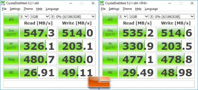 Samsung T5 Portable SSD - 2TB CrystalDiskMark