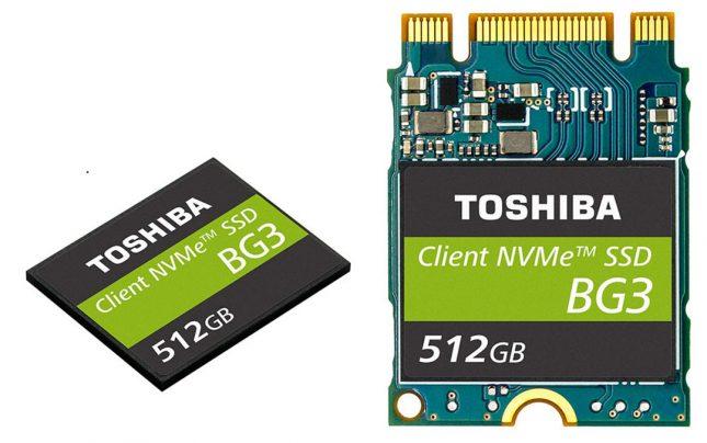 Toshiba BG3 SSDs Use 64-layer 3 bit-per-cell TLC BiCS FLASH