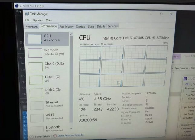 Intel Core i7-8700K Clock Speed