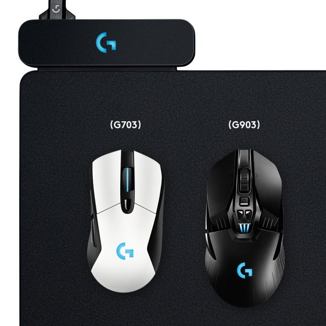 Logitech G703 and G903 on the PowerPlay Charging Mat
