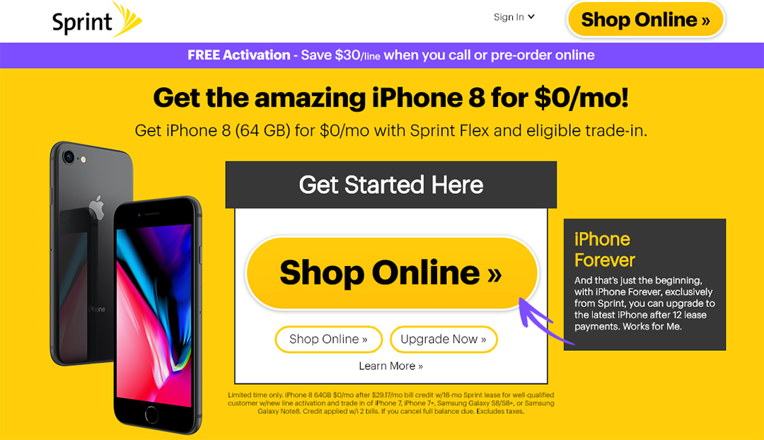 Sprint Offers Some Customers Free iPhone 8 Deal - Legit Reviews