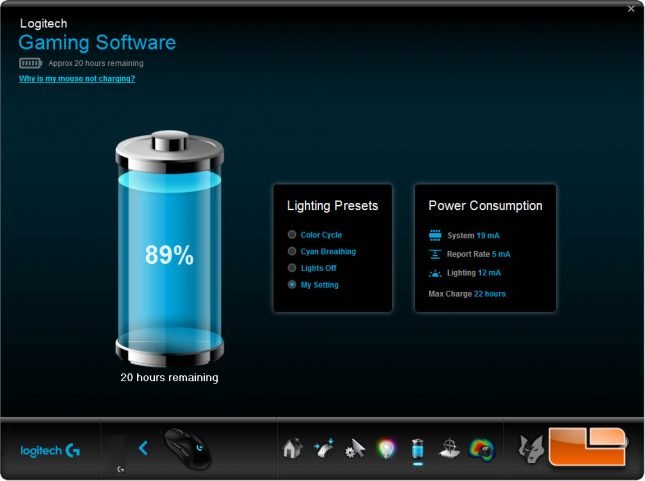 Logitech Gaming Software - PowerPlay Battery Life