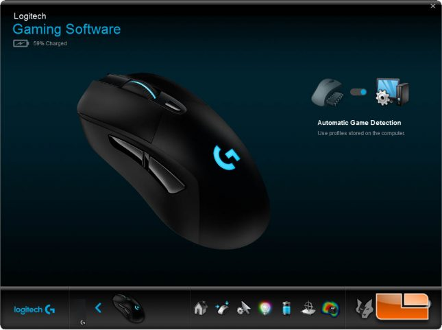 Logitech G703 w/PowerPlay - Before Charging