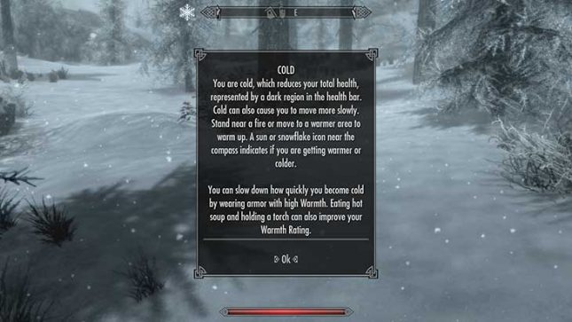 Skyrim Survival Mode Forces You to Fight the Elements