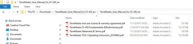 terramaster f2-420 manual