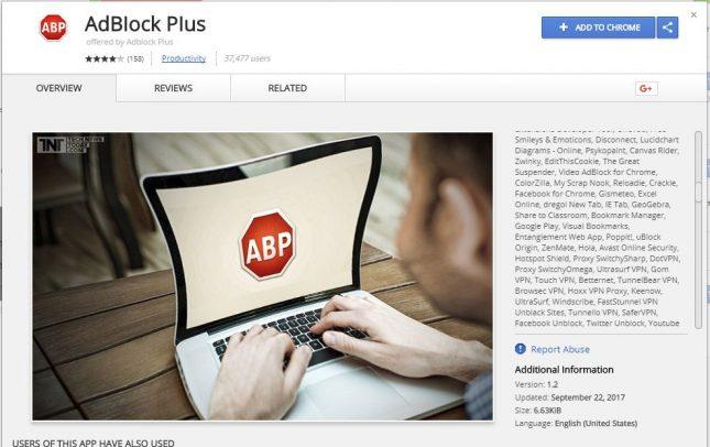 Fake Adblock Plus Chrome Extension Was Distributed via Chrome Web Store
