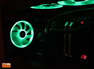 Corsair LL120 RGB Fans Installed - Set to Static Green