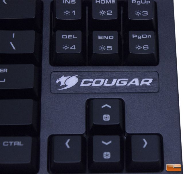 Puri TKL - Cougar branding by the arrow keys