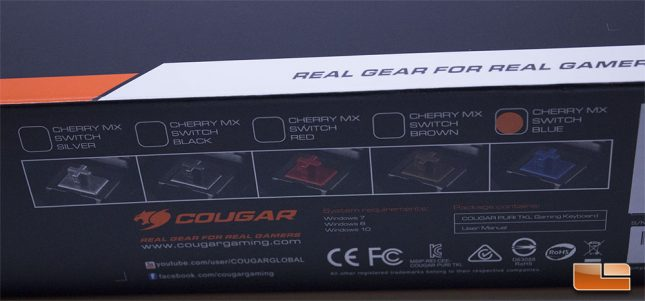 Cougar Puri Retail Box - Switch Types