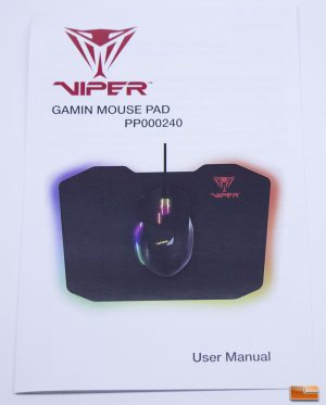 The Viper Gaming LED Mouse Pad - Instruction Manual