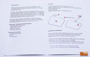 Viper Gaming LED Mouse Pad - Instruction Manual