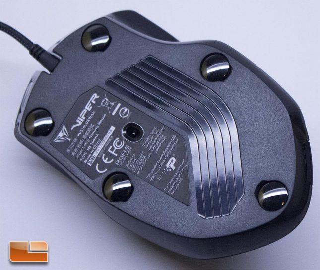 Viper V570 RGB Blackout - Bottom of Mouse