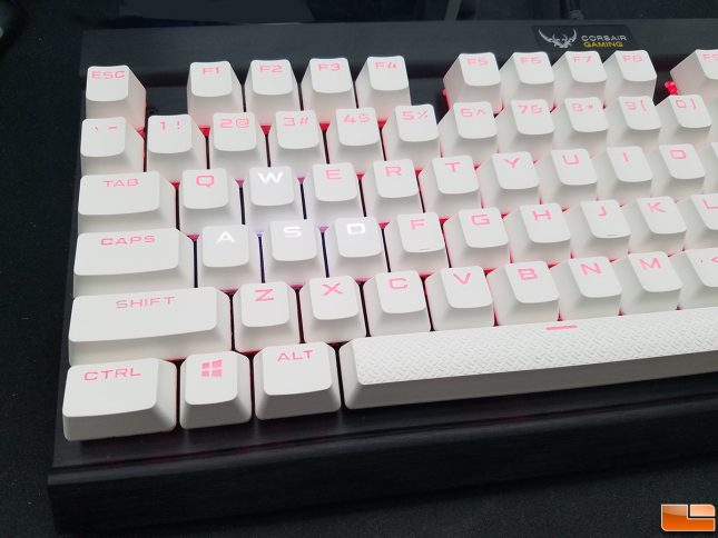 CORSAIR GAMING PBT Double-shot White Keycaps