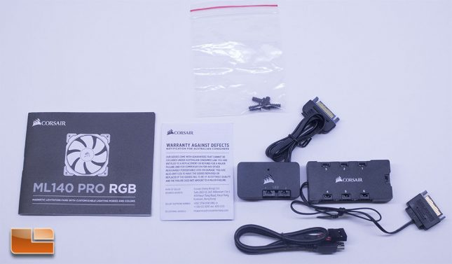 Corsair ML140 Pro RGB - Accessory Pack