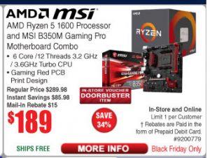 AMD Ryzen 5 and B350M Board Combo