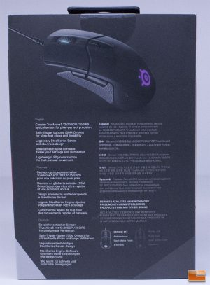 SteelSeries Sensei 310 -Rear of Retail Box