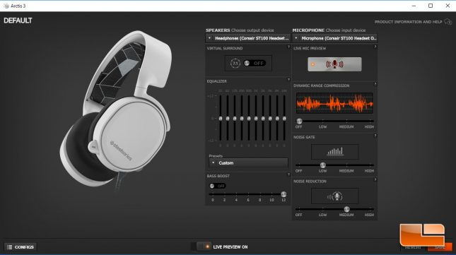 Arctis 3 - Engine 3 Audio Control