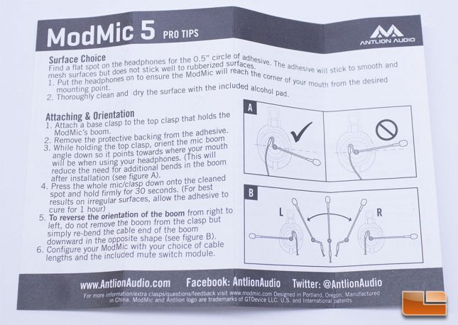 Antlion ModMic 5 - User Guide