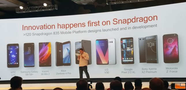Qualcomm Snapdragon 835 Design Wins