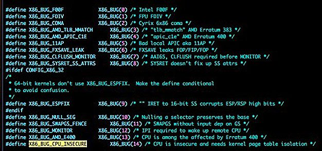 Intel Kernel Page Table Vulnerability - credit: python sweetness