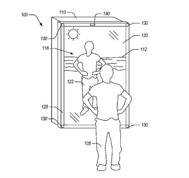 Amazon Blended-Reality Mirror Patent Lets You Try On Clothes at the Beach