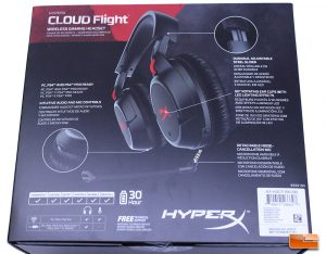 HyperX Cloud Flight - Rear Of Box