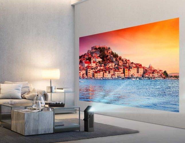 LG HU80K 4K UHD Projector Series Packs 150-inch Screen Size