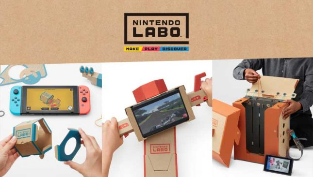 Nintendo Labo invites Kids to Combine Switch and Cardboard Creations