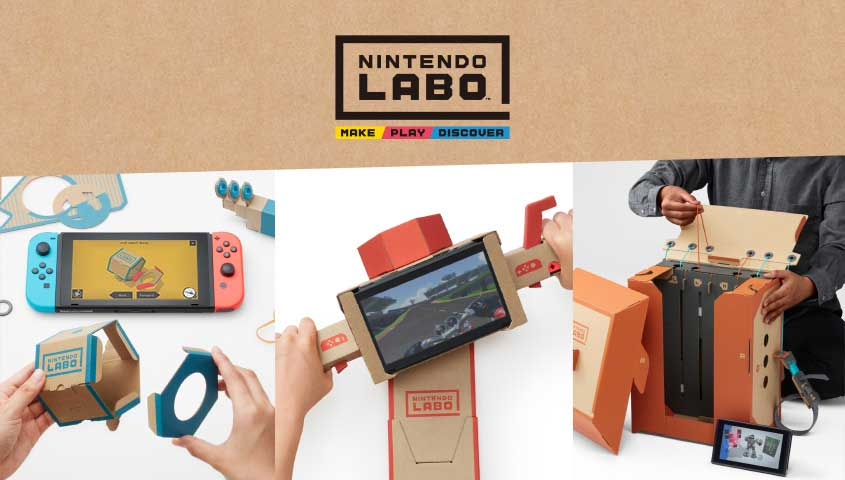 Nintendo Labo invites Kids to Combine Switch and Cardboard ...