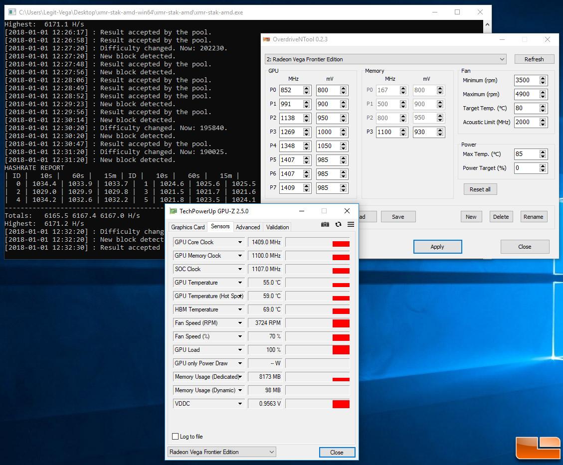 Mining XMR Monero With AMD Radeon Vega Frontier Edition Cards - Over