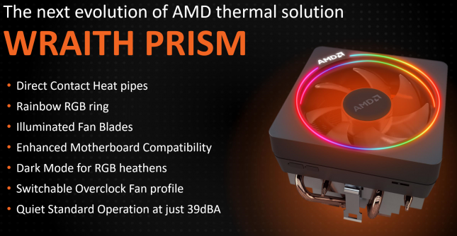 AMD Wraith Prism CPU Cooler