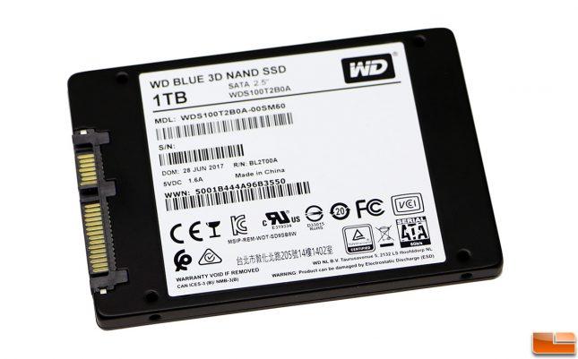 WD Blue 1TB 3D NAND SATA SSD Label