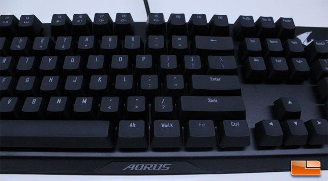 Aorus K9 Optical - Key Font