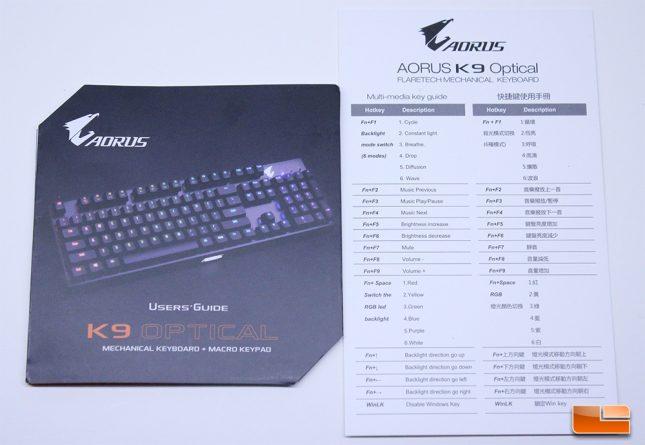 Aorus K9 Optical - User Guide and Manual