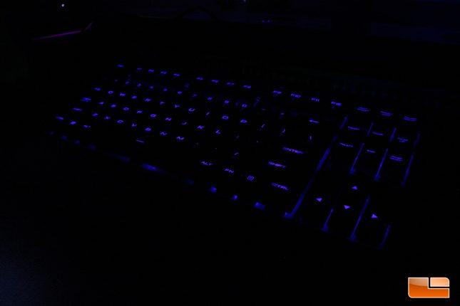 Corsair K63 Wireless - Blue LED On desk