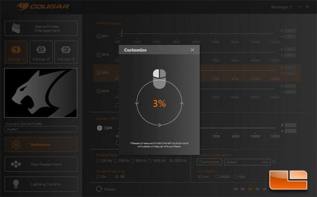Revenger S - Surface Calibration