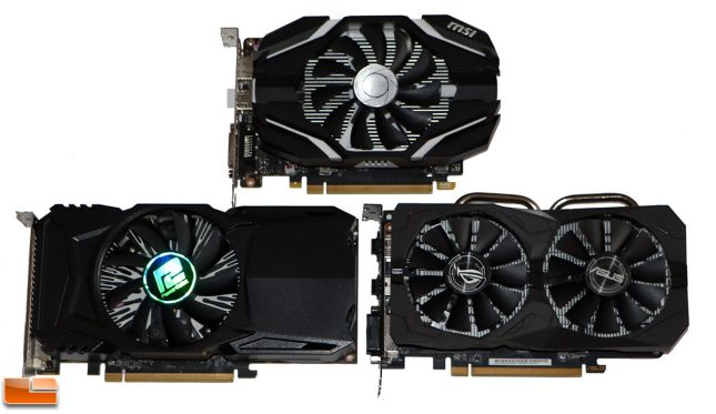AMD Radeon RX 560, Radeon RX550 and NVIDIA GeForce GTX 1050 Ti