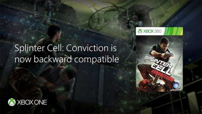Ubisoft Accidentally Leaks Splinter Cell: Conviction Xbox One Backward Compatibility