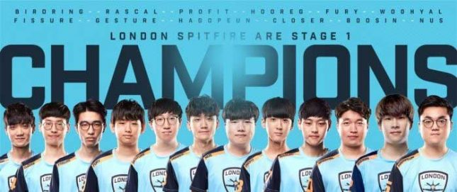 London Spitfire Claims Stage 1 Championship in Overwatch League