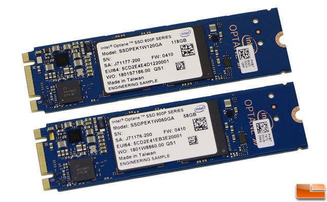 Intel Optane SSD 800P 58GB and 118GB
