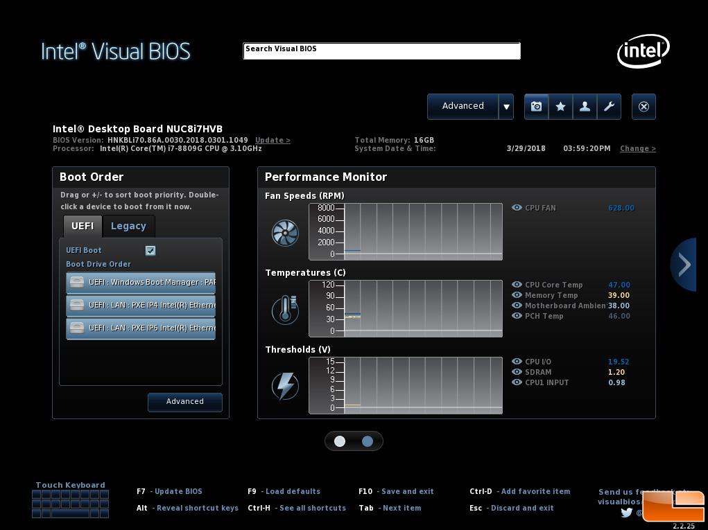 Intel Hades Canyon NUC8i7HVK NUC Review - Radeon RX Vega M ...