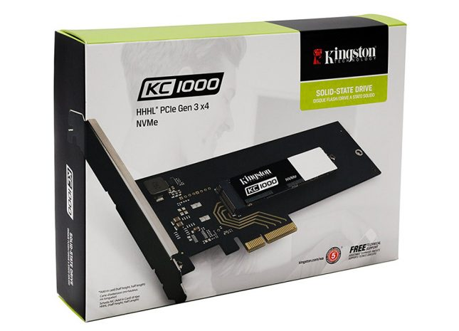 Kingston Digital KC1000 NVMe PCIe SSD Packaging