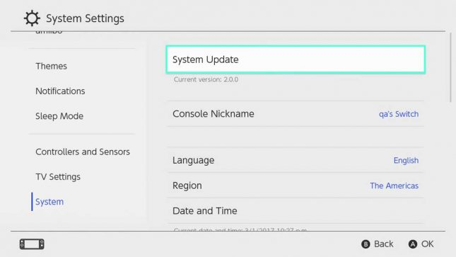 Nintendo Switch 5.0.0 Update Now Available