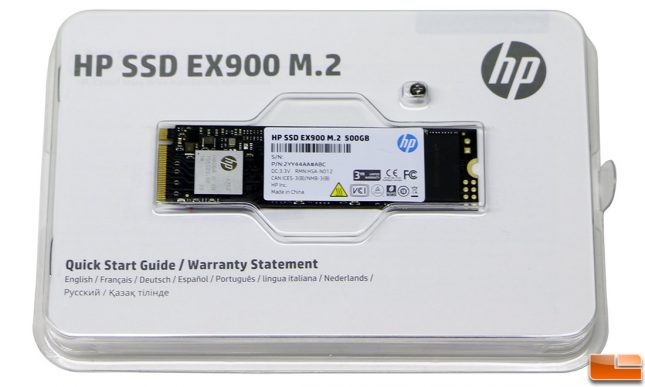 HP SSD EX900 Retail Packaging