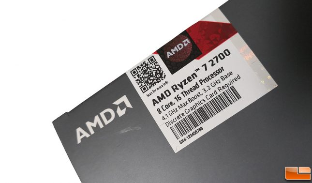 AMD Ryzen 7 2700 Retail Packaging