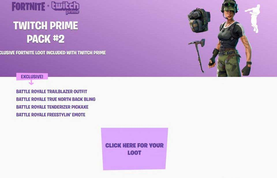 Twitch Prime Subscribers Get Second Fortnite Loot Pack - Legit Reviews