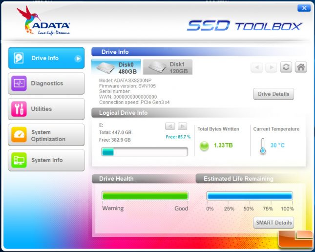 ADATA SSD Utility