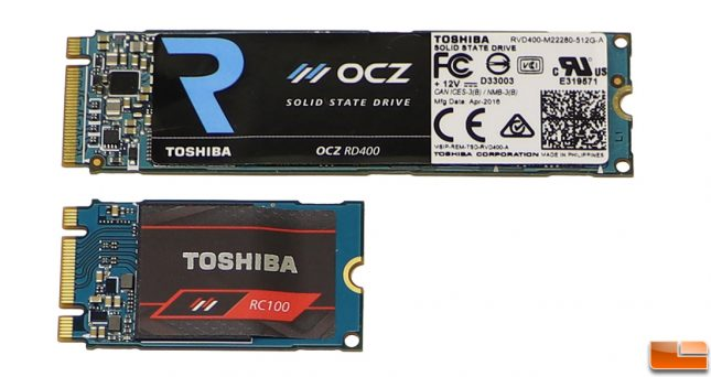 Toshiba OCZ RC100 2242 Form Factor