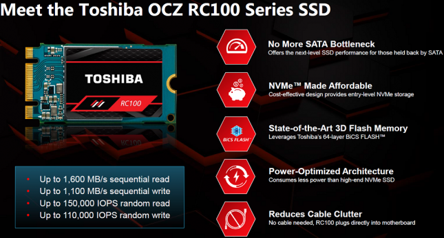 Toshiba RC100 SSD Introduction