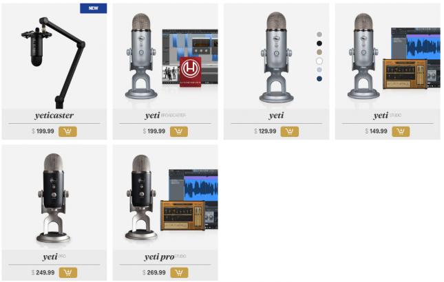 Yeti Microphones